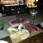 selection of cheese and cured meats, delicious along with fresh made cocktails
