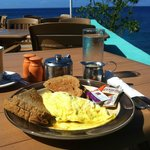 Western omlette breakfast with a view!