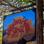Ranchos Plaza Grill under shade trees