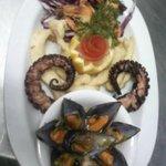 Sea food variety