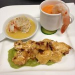 shrimp Trio (garlic/poached/tempura)