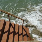 The stairs to the ocean right off the deck
