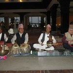 Musicians, hubby on the right