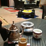 Having tea and relaxing at the Courtyard