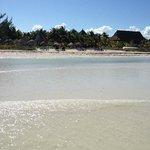 Vista desde la playa hacia el hotel