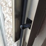 broken latch that locked us on the balcony