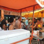 Customers in line for the Kaimana Restaurant Festival Street Food