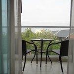 sitting area in balcony