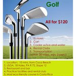 All inclusive Golf  $120