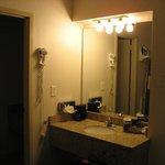 Clarion Hotel Room 233 Sink outside bathroom