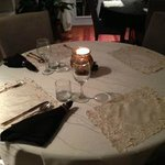 dining table - candle light