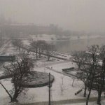 heavy snowfall in krakow!!