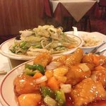 sweet and sour and chicken and veg