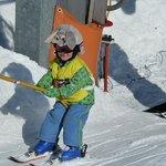 bunny can ski, too