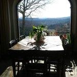 vista dal tavolo della colazione