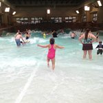 running to the wave pool