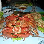 Crab meal for three.