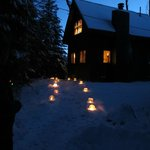 Ice lanterns by Cabin #1
