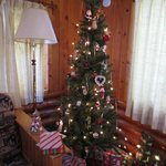 Christmas tree in Cabin #1