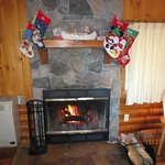 Fireplace in Cabin #1