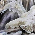 Berea Falls in the winter