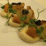 Fresh scallops with caviar - incredible!