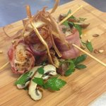 scallops wrapped in prosciutto brochette special board