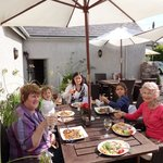 Family lunch on a sunny day in September 2012