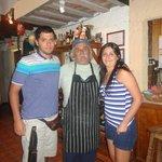 Nosotros con el cocinero Daniel
