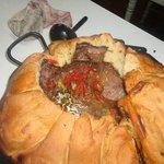 """La preparación del plato """"carne a la masa"""""""