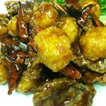 Hunan Beef and Scallops
