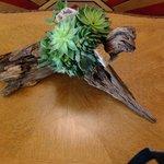 Lobby succulent arrangement