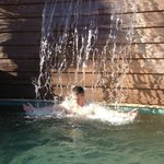Spa: Hot tub waterfall - ahhhhhh!