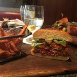 Ignite: Hamburger $18 & Sweet Potato Fries $5