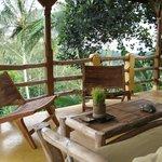 Terrace in Tree House bungalow