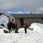 Our private Caroline Hut provides a great base for climbing courses.