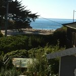 the view of sunny cove from the deck