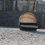 sunchair on the beach