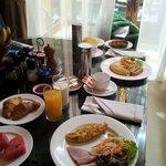 complimentary inroom breakfast