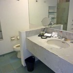 Deferred maintenance in bathroom in room 1145 (see vanity top)