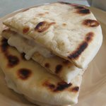 Pita bread with garlic sauce - I can eat 100s of it!