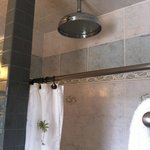 The awesome shower head in the Royal Suite