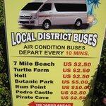 Cayman bus schedule.