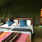 inside tent at Ronjo