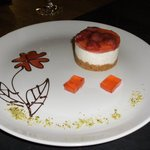 Strawberry Cheesecake Dessert with Chocolate work