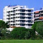 The hotel from the marina