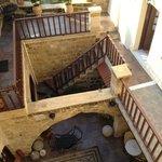 inside the wonderful hotel courtyard