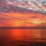 Sonnenuntergang auf der Freedom Fargo