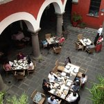 the patio/ restaurant