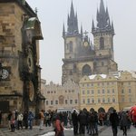 Old Town Astronomical Clock and St Salvator church